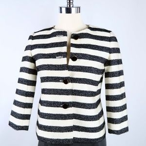 Talbots Striped Cropped Jacket